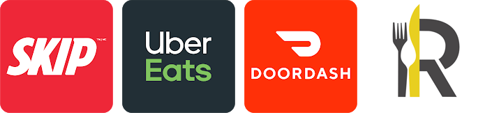 Food delivery apps logos